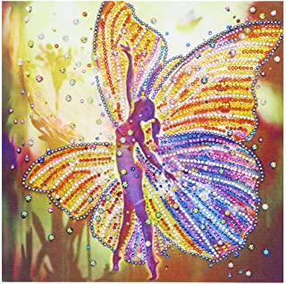 Loneflash DIY 5D Diamond Painting 30x30cm Butterfly Fairytale Crystal Rhinestone Diamond Embroidery Paintings Pictures Arts Craft for Home Wall Decor