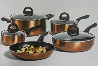 Philippe Richard 9-pc. Non-Stick Aluminum Cookware Set - Copper Colored.