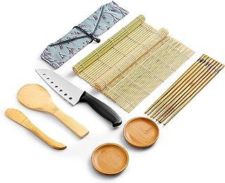 WeeDee Bambus Sushi Maker Set - 2 x Rollmatte, aus Bambus, 4