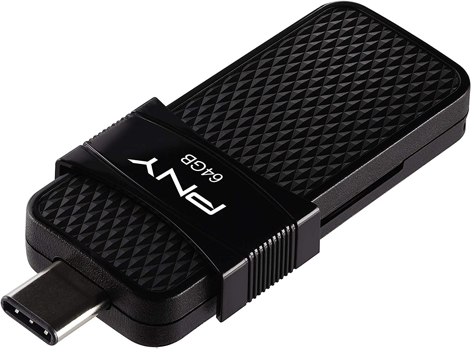 PNY 64GB Duo Link USB 3.1 Type-C OTG Flash Drive for Android Devices and Computers - External Mobile Storage for Photos, Videos, and More