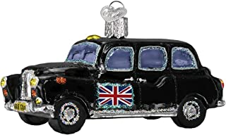 Old World Christmas Glass Blown Ornament with S-Hook and Gift Box, Auto Collection (British Taxi)