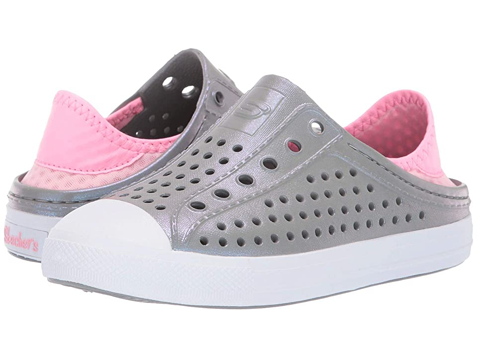 SKECHERS KIDS Guzman Steps (Little Kid/Big Kid) (Grey/Pink) Girl
