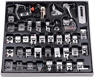 Honorall 42 Pcs Conjunto de pés de calcador para máquina de costura, pés de calcador de costura profissional para Janome B...