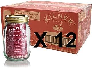 Set of 12 Kilner 0.5L Screw Top Preserve Preserving Jam Pickle Glass Storage Jar