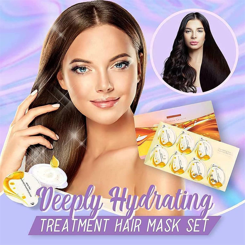 Deeply Hydrating Treatment Hair Max 80% OFF Mask unisex Advanced Set Molecular Hai