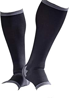 男性専用脚すっきり対策オープントゥ着圧ソックス 膝下 M-L 順天堂大学客員教授推奨