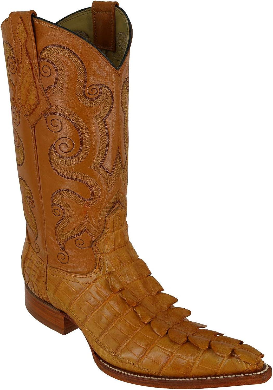 Genuine Nile Crocodile Tail Pointed Cowboy Toe 期間限定 Boots 初回限定