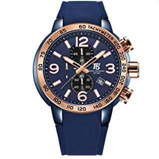 T5Wrist Watch for Men Chronograph , Rubber , H3450G-H