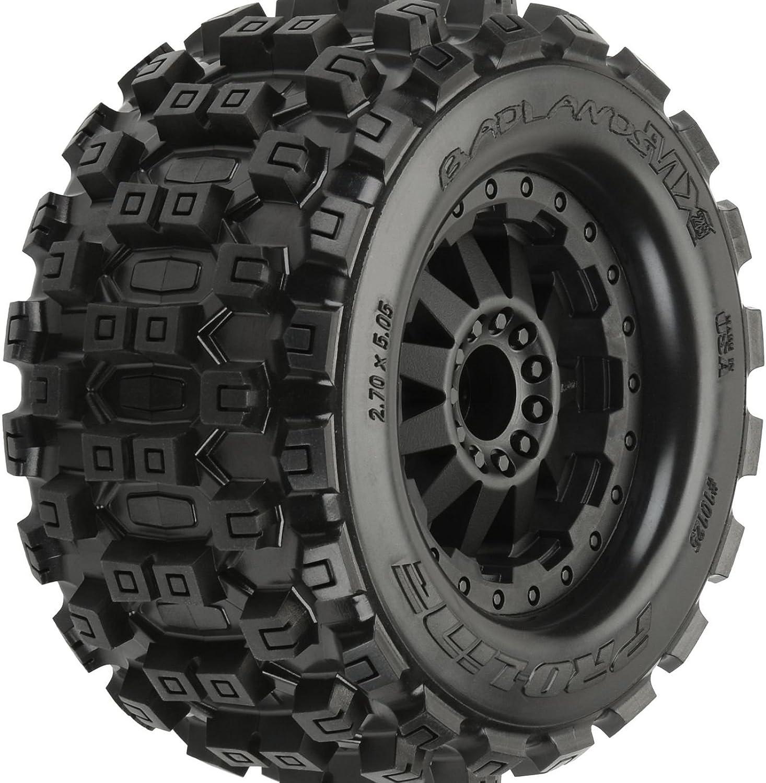 Badlands MX28 2.8, Mnt F11 Blk Whl(2)  R EST,EST by Proline Racing