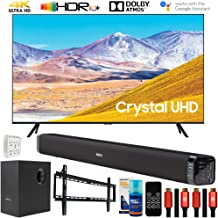 "$599 » Samsung UN50TU8000 50"" 4K Ultra HD Smart LED TV (2020 Model) Bundle with Deco Gear Home Theater Soundbar with Subwoofer and Complete Wall Mount Setup and Accessory Kit"