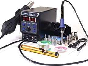 YIHUA 8786D I 2 in 1 Hot Air Rework and Soldering Iron Station with �F /�C, Cool/Hot Air Conversion, Digital Temperature Correction and Sleep Function