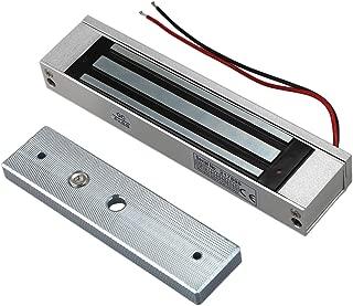 Vaorwne Cerradura electromagnetica magnetico electrico 12V de sola puerta 180KG (350LB) Fuerza de retencion para control de acceso plata