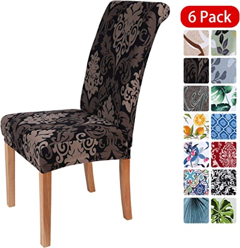 smiry Stretch Printed Dining Chair Covers, Spandex Removable Washable Dining Chair Protector Slipcovers for Home, Kit...