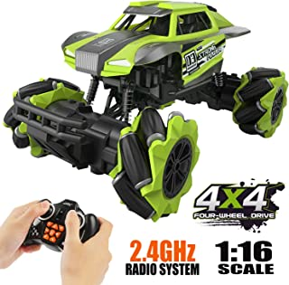 Remote Control Car,Hobby RC Car Monster Truck RC Cars for Kids High Speed 1/16 Scale Stunt Climbing Car 4x4 Off Road Car Rechargeable RC Stunt Car for Adult Outdoor Toy