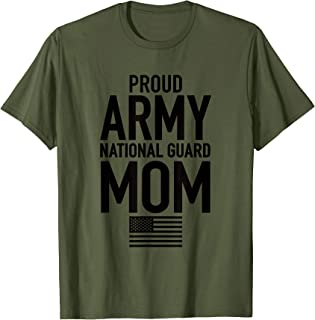 Proud Army National Guard Mom USA Mothers Day Military Shirt