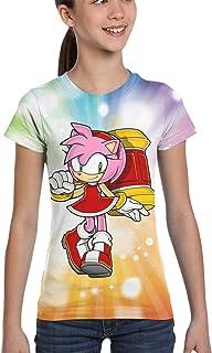 Zrsdfjgiosrj Sonic The Hedgehog Amy Rose Tshirts Girl's Kids T-Shirt Boy Girl Tops Tee