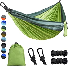 Lifeleads Camping Hammock-Nylon Double and Single Portable Parachute Lightweight for Outdoor or Indoor Backpacking Travel ...