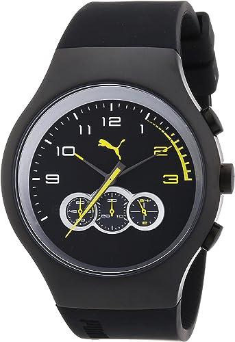 PUMA Time Red Zone Chrono Black Chronograph for Him very sporty