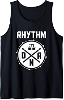 Drummer DNA Rhythm Percussion Marching Band Gifts Drums Tank Top