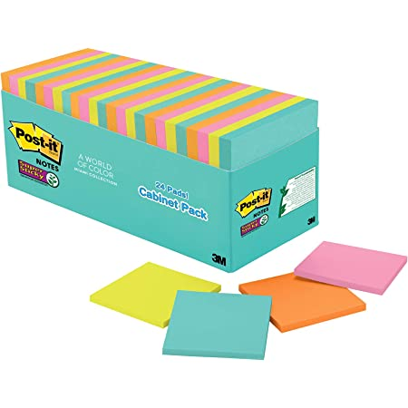 30Sheets//Pad Qifumaer Small Fresh Style Sticky Note Gradient Square Office Memo Note,Assorted Colors