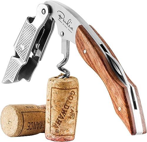 Professionelle Zink-Legierung Wein Flaschenoeffner Griff Druck Korkenzieher R PR