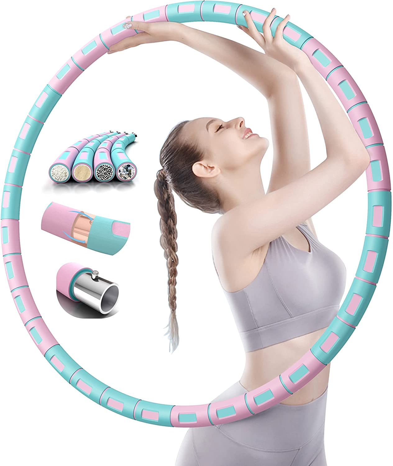 MALACHI Weighted Hula Hoop for Ho Bombing new work Baltimore Mall Exercise Detachable Section 8