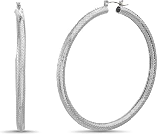 Steve Madden Textured Tube Hoop Earrings for Women