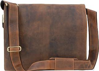 e18a038634 Sac Gibecière XL A4 Plus en cuir signé Visconti (16054) - Tanne