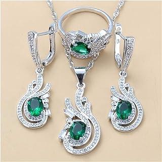 مجموعة مجوهرات للنساء لحفلات الزفاف مجموعة مجوهرات مجوهرات هدايا للنساء يانجين (اللون : C 3 قطع، الحجم: 6)