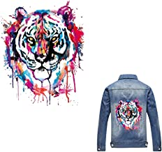 Artem Heat Transfer Sticker Tiger Patch Iron On Appliques A-Level Washable for T-Shirt Dresses Decoration DIY Printing
