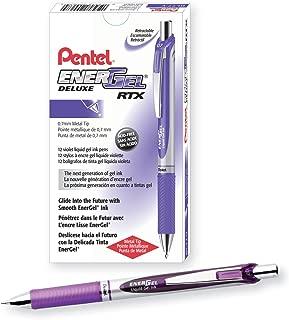 Pentel EnerGel Deluxe RTX Gel Ink Pen, 0.7 Millimeter Metal Tip, Violet Ink, 1 Each (BL77-V)