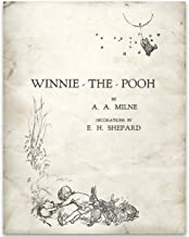 Winnie the Pooh Dust Jacket Title Page - 11x14 Unframed Typography Book Page Print - Great Gift for Book Lovers, Also Makes a Great Gift Under $15