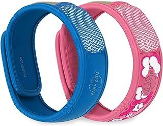 PARA'KITO Mosquito Repellent Pack - 2 Wristbands   2 Refills (Blue + Sakura)