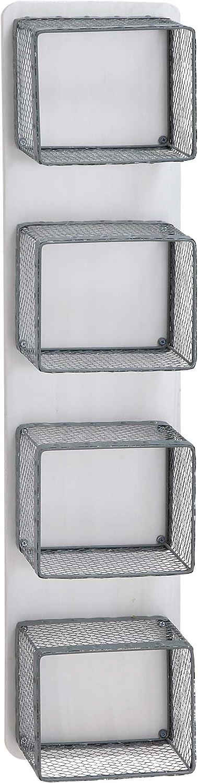 Benzara 66583 Attractive Styled Wood Metal Wall Rack