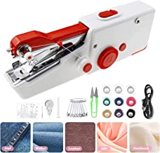 SeamlessFix Handheld Sewing Machine Portable Electrical and Cordless Handy Stitching Machine for Quick Reparing and DIY Projects