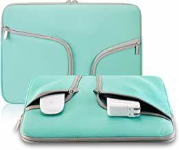 Steklo Laptop Sleeve 13 inch Neoprene MacBook Sleeve Case - Perfect MacBook Sleeve Cover with Pockets for MacBook Pro 13 inch Sleeve and MacBook Air 13 inch Sleeve, Laptop Bag 13 inch - Teal