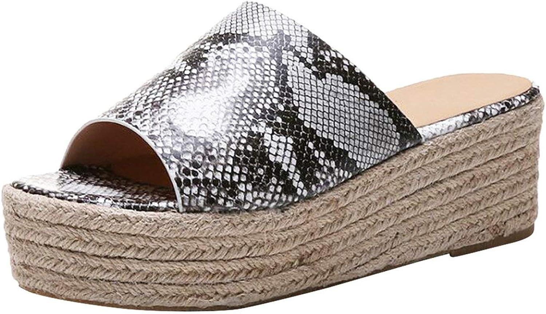 Mr Z Waroom Women Ladies Fashion Wedges Casual Slip On Peep Toe Roman Slipper shoes Sandals Summer Slippers flip Flops
