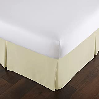 Southshore Fine Linens - VILANO Springs - 15 inch Drop Pleated Bed Skirt, Off White, Full
