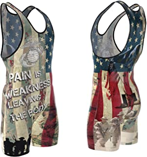 youth army wrestling singlets
