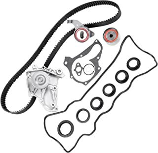 Timing Belt Kit Including Timing Belt Water Pump with Gasket tensioner Bearing etc,OCPTY Compatible for 90 91 92 93 94 95 96 97 98 99 00 01 Toyota Camry/89 90 91 92 93 94 95 96 97 98 99 Toyota Celica