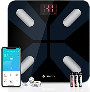 Etekcity Smart Scales for Body Weight, Digital Bathroom Weight Scale for Weight Loss, Wireless Bluetooth Body Fat Scale Tr...