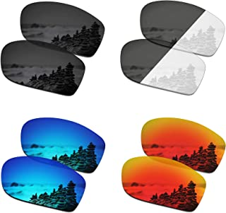 SmartVLT Set of 4 Men's Replacement Lenses for Oakley Jawbone/Racing Jacket Sunglass Combo Pack S01