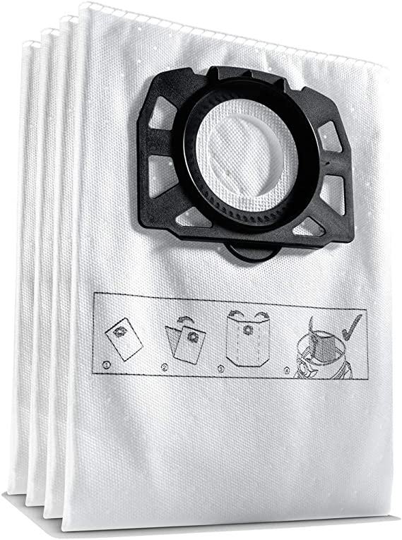 4 original sacs pour Aspirateur 1 plat filtre plissé pour KARCHER MV 5 p premium