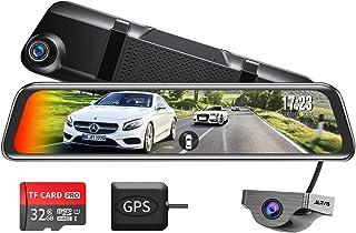 Changer V68 ドライブレコーダー ミラー型 前後カメラ BSD死角検出機能+ADAS運転支援システム搭載 右ハンドル仕様 1080PフルHD 12インチ大画面 タッチパネル Sonyセンサー 前170°後170° 超広角レンズ GPS...