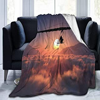 fenrris65 Hang Glider Flannel Fleece Blanket Ultra Soft Cozy Warm Throw Lightweight Blanket Microfleece Blanket for Home 50x40inches