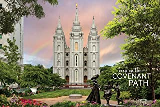 """Robert A. Boyd Self-Adhesive Poster (Peel & Stick) -Salt Lake Temple- Spring Statue- 12""""x18 LDS Temple/Removable Vinyl/Repositionable/Religious Wall Decal/Motivational Poster"""