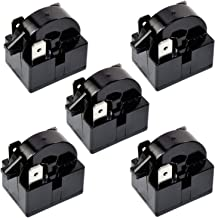 HQRP 5-Pack QP2-4R7 4.7 Ohm 3-Pin PTC Starter/Start Relay Replacement for Mini Fridges, Compact Refrigerators, Beverage & Wine/Beer coolers, Deep Freezers, Beer/Wine Refrigerators + Coaster