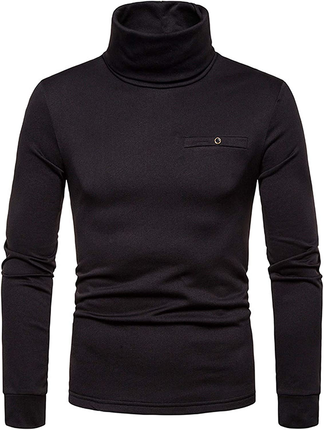 Men's Turtleneck Pullover Tops Popular product Long Thermal Sweater Stret All stores are sold Sleeve