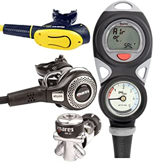 Mares Abyss 22 Regulator, Octo & Mission Puck Dive Comp Console Package
