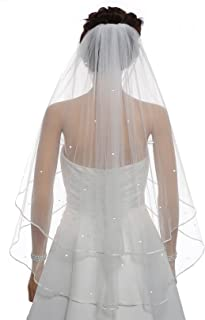 ivory wedding veils with crystals